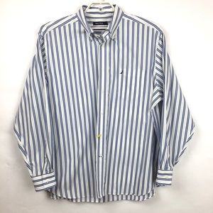 Nautica Long Sleeve Stripe Mens Shirt Size XXL